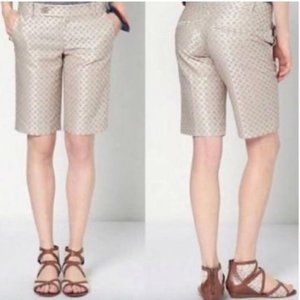 Anthro Cartonnier Brocade Bermuda Shorts